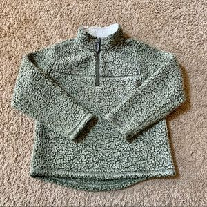 Wonder Nation Green Sherpa Pull Over Size S 6-7